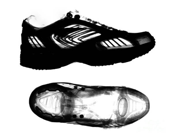 Photograph - X-ray Of Athletic Shoe by Bert Myers