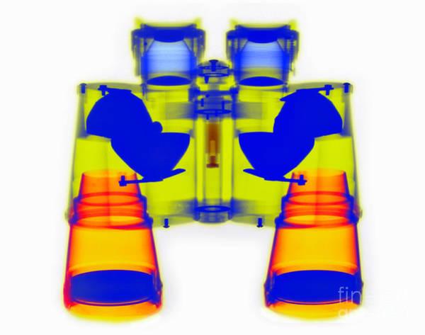 Photograph - X-ray Of Binoculars by Scott Camazine