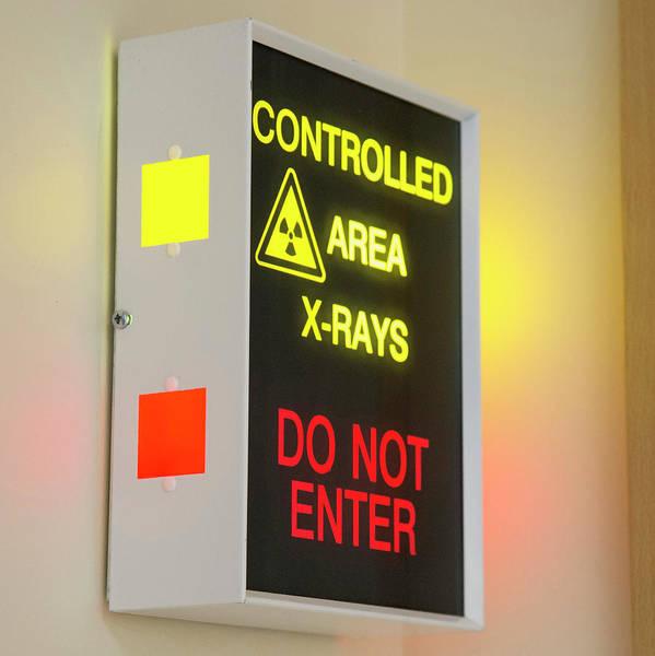 Light Box Photograph - X-ray Room Warning Box by Public Health England