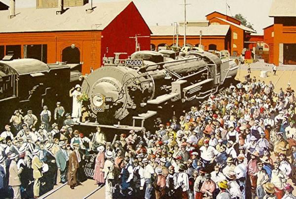 X5000 At The Sacramento Locomotive Works Art Print by Paul Guyer