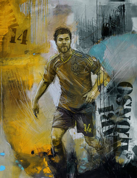 Wall Art - Painting - Xabi Alonso - B by Corporate Art Task Force