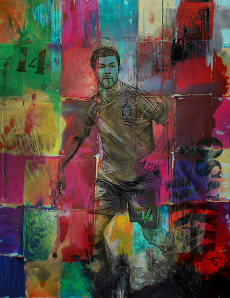 Wall Art - Painting - Xabi Alonso - C by Corporate Art Task Force