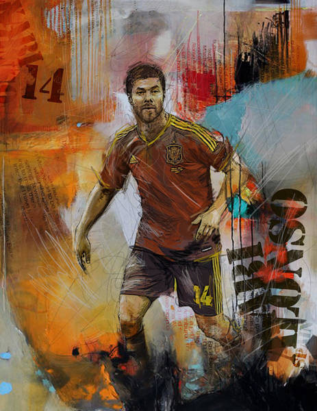 Wall Art - Painting - Xabi Alonso by Corporate Art Task Force