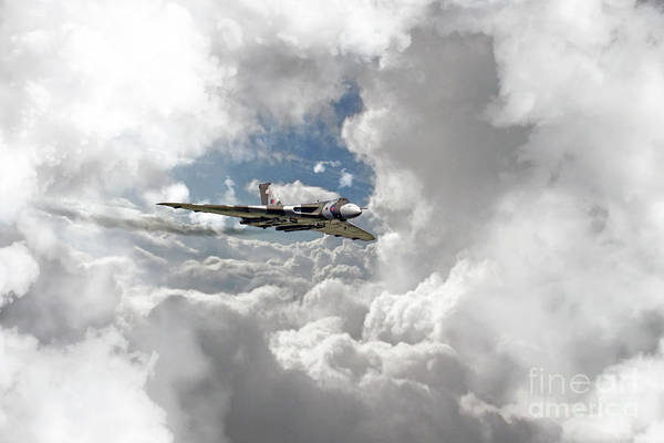 Nuclear Bomber Wall Art - Digital Art - Xh558 At Altitude by J Biggadike