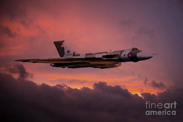 Avro Vulcan Wall Art - Digital Art - Xh558 Sunrise by J Biggadike