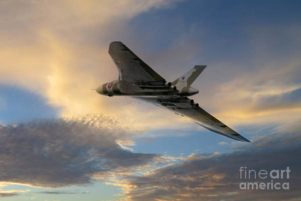 Falklands Digital Art - Xh558 Take Off  by J Biggadike