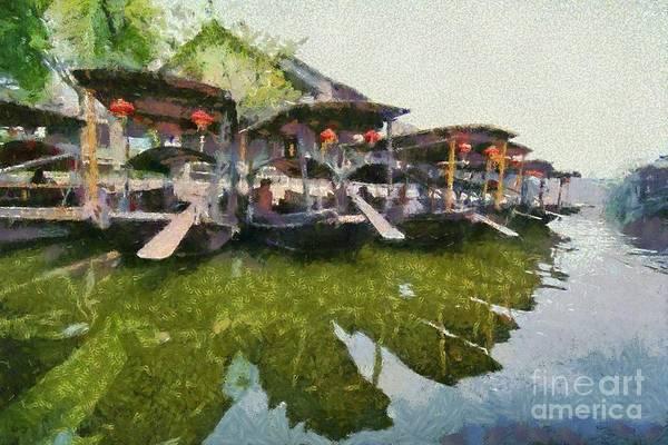 China Town Painting - Xi Tang Town by George Atsametakis