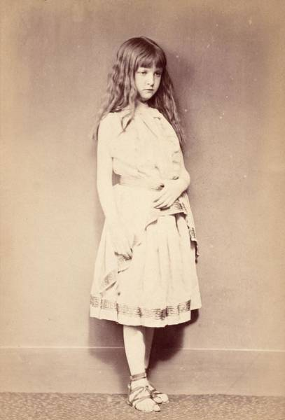 Wall Art - Painting - Xie Standing, C.1875 by Lewis Carroll