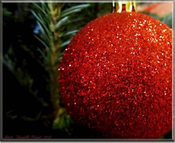 Photograph - Xmas Tree Decoration Ball by Danielle  Parent