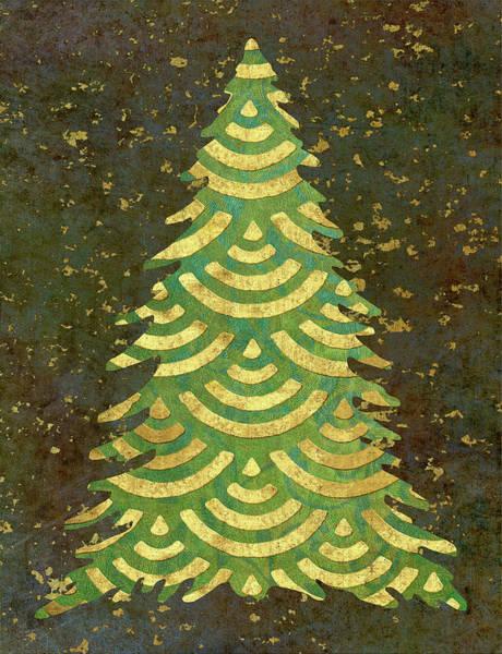 Holidays Painting - Xmas Tree Garland Iv by Cora Niele