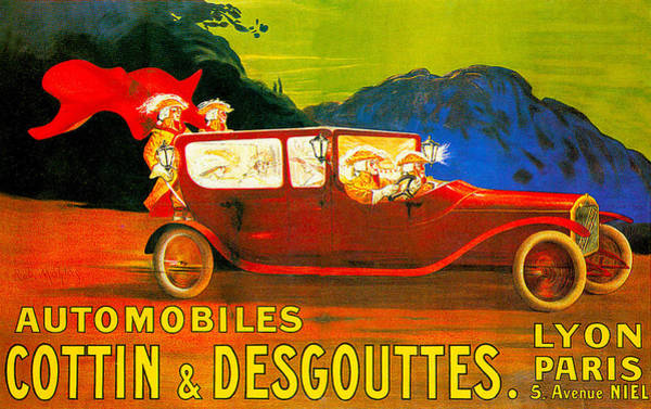 Photograph - Cottin And Desgouttes Automobile by Unknown