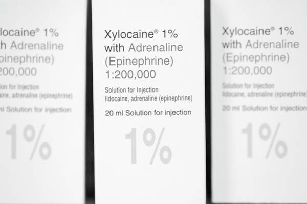 Branding Photograph - Xylocaine Anaesthetic Packets by Dr P. Marazzi/science Photo Library