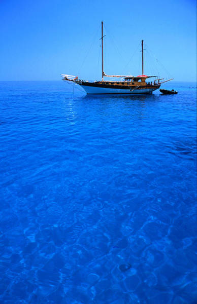 Sardinia Photograph - Yacht Anchored In The Spectacular by Dallas Stribley