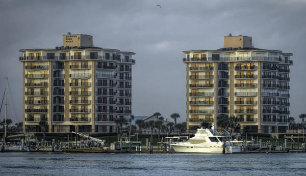 Photograph - Yacht And Condo by Dorothy Cunningham