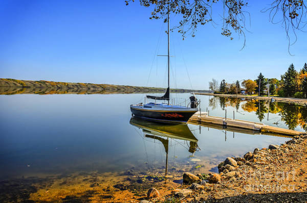 Canada Wall Art - Photograph - Yacht At The Little Manitou Lake by Viktor Birkus