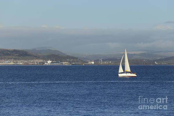 Photograph - Yacht In Swansea Bay by Paul Cowan