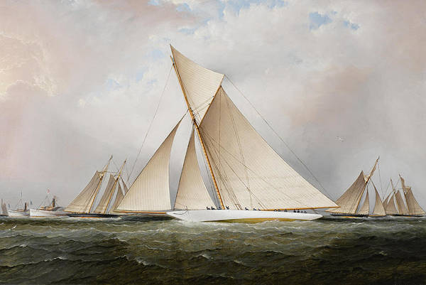 Beauty Wall Art - Painting - Yacht by James Edward Buttersworth
