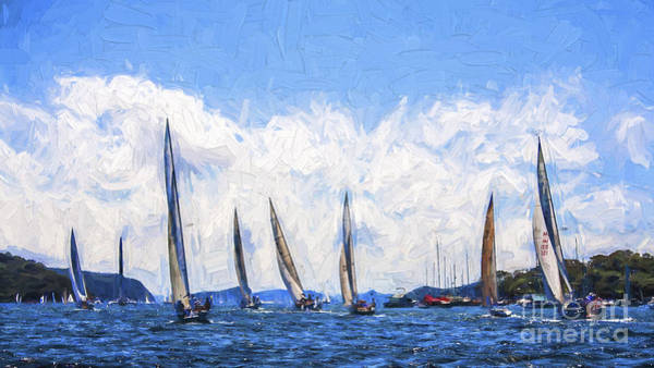 Wall Art - Photograph - Yacht Race On Pittwater by Sheila Smart Fine Art Photography