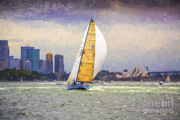 Wall Art - Photograph - Yacht Racing On Sydney Harbour by Sheila Smart Fine Art Photography