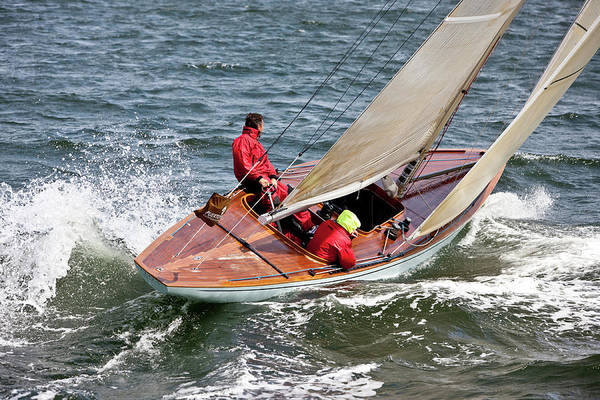 World Championship Photograph - Yacht Sailing In 6 Metre World by Panoramic Images