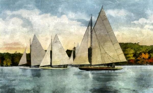 Digital Art - Yachting In Saugatuck by Michelle Calkins