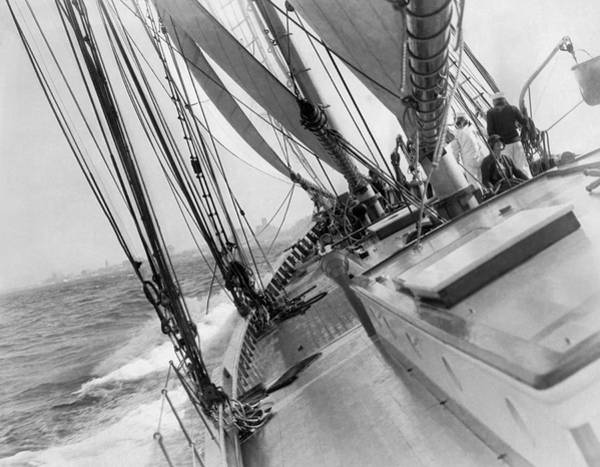 Photograph - Yachting Season Opener by Underwood Archives