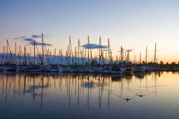 Digital Art - Yachts And Sailboats - Lake Ontario Impressions by Georgia Mizuleva