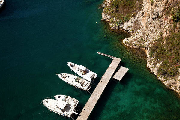 Luxury Yacht Photograph - Yachts At Fontvieille Port, Monaco by Carlos Sanchez Pereyra