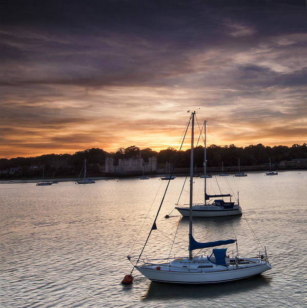 Chatham Photograph - Yachts At Sunset by Nigel Jones