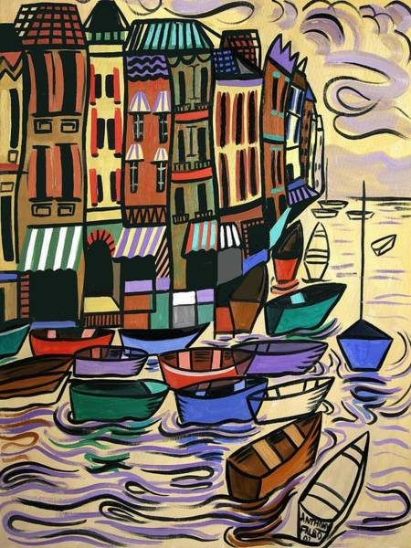 Painting - Yachts For Sale by Anthony Falbo