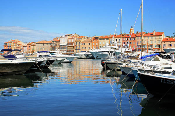 St Tropez Photograph - Yachts In St Tropez Harbour by Tony Burns