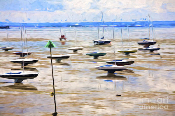Leigh On Sea Photograph - Yachts On Mudflats At Leigh On Sea by Sheila Smart Fine Art Photography