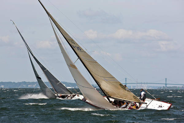 World Championship Photograph - Yachts Sailing In 6 Metre World by Panoramic Images