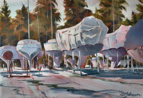 Painting - Yachts Winterizing by David Gilmore