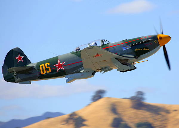 Photograph - Yak-9um On Climb-out N4425s by John King