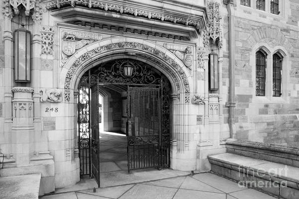 Photograph - Yale University Davenport College Gate by University Icons