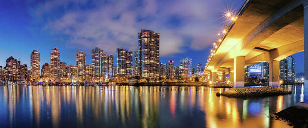 False Creek Wall Art - Photograph - Yaletown And The Cambie Bridge by Alexis Birkill