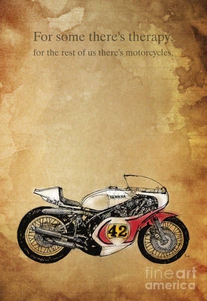 Wall Art - Drawing - Yamaha - For Some There's Therapy by Drawspots Illustrations
