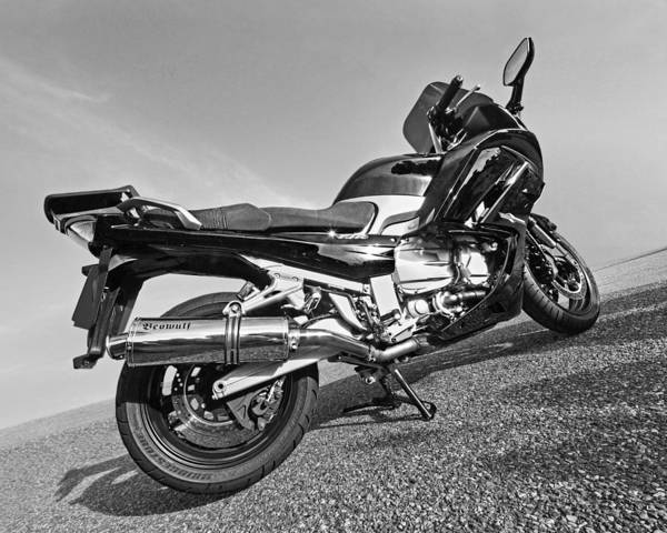 Photograph - Yamaha Fjr 1300 In Black And White by Gill Billington