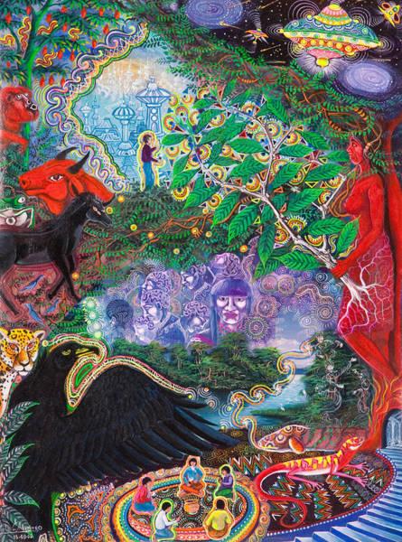 Painting - Yana Huaman by Pablo Amaringo