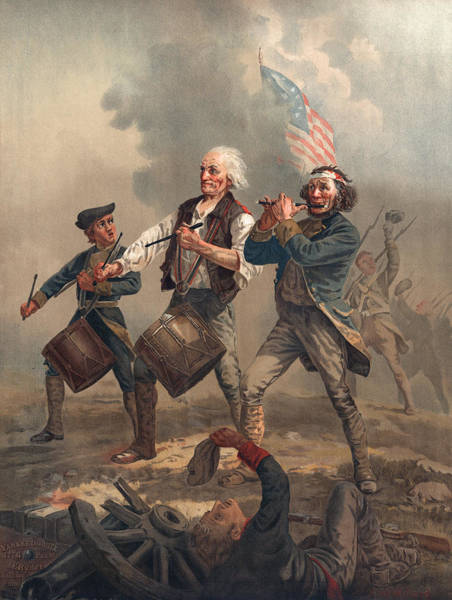 Parody Photograph - Yankee Doodle Or The Spirit Of 76, Published By J.f. Ryder After Archibald M. Willard Chromolitho by Archibald Willard