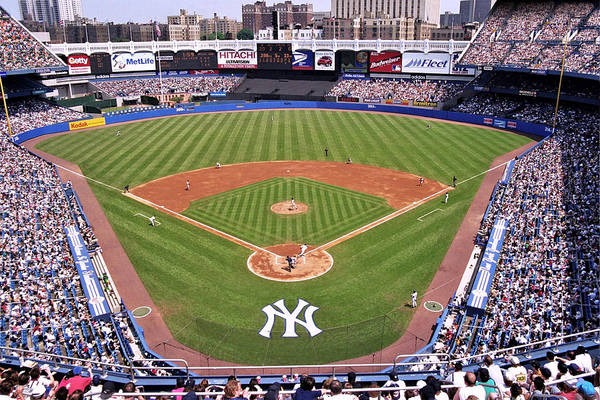 Green Grass Photograph - Yankee Stadium by Allen Beatty