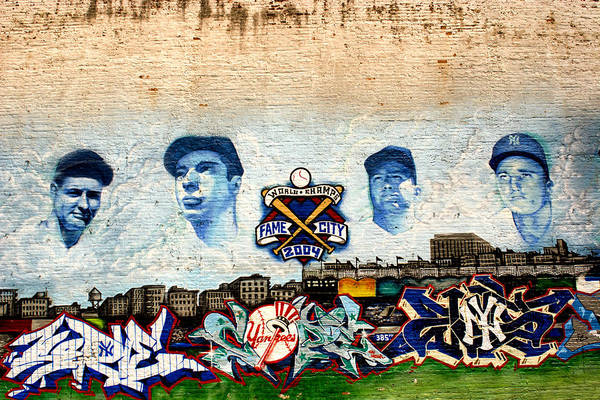 Photograph - Yankee Stadium Four Mural by Dave Beckerman