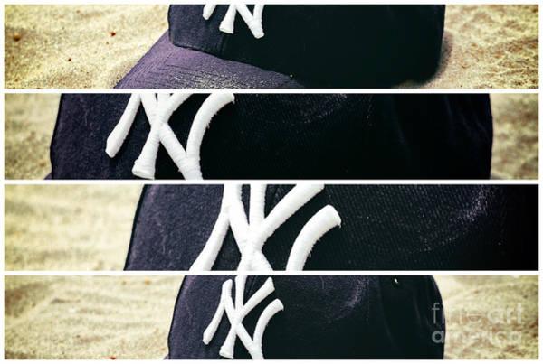 Photograph - Yankees Hat Panel by John Rizzuto