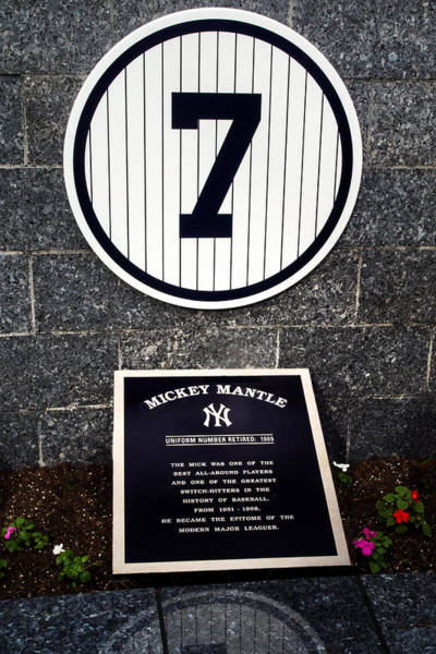Photograph - Yankees No.7 Monument Park by Gary Slawsky