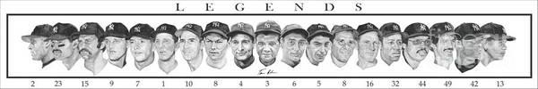 Baseball Painting - Yankees by Tamir Barkan
