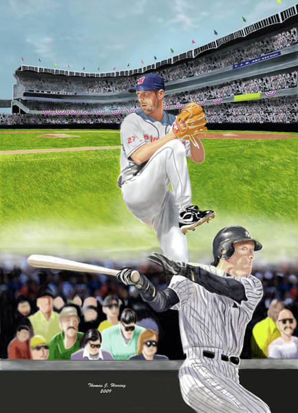 Digital Art - Yankees Vs Indians by Thomas J Herring