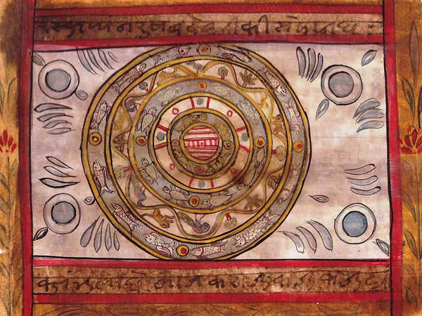 Wall Art - Painting - Yantra Mantra Calligraphy Painting Artwork Art Gallery India by A K Mundhra