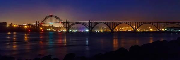 Photograph - Yaquina Bay Bridge At Night by James Eddy