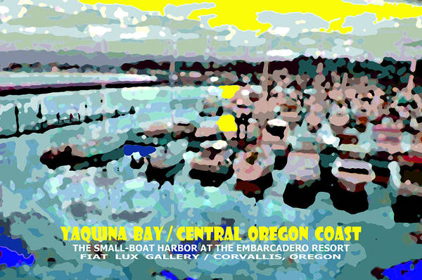 Central Oregon Coast Digital Art - Yaquina Bay II by Michael Moore